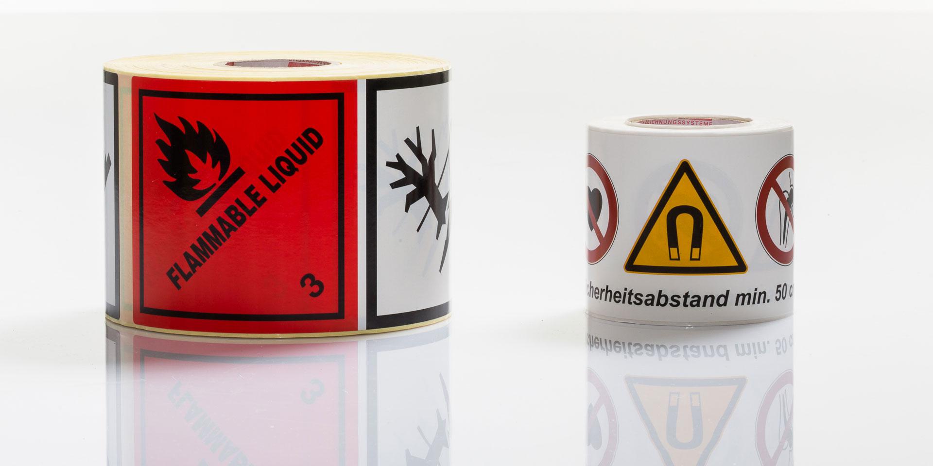 Gefahrgutetiketten - contact Auszeichnungssysteme