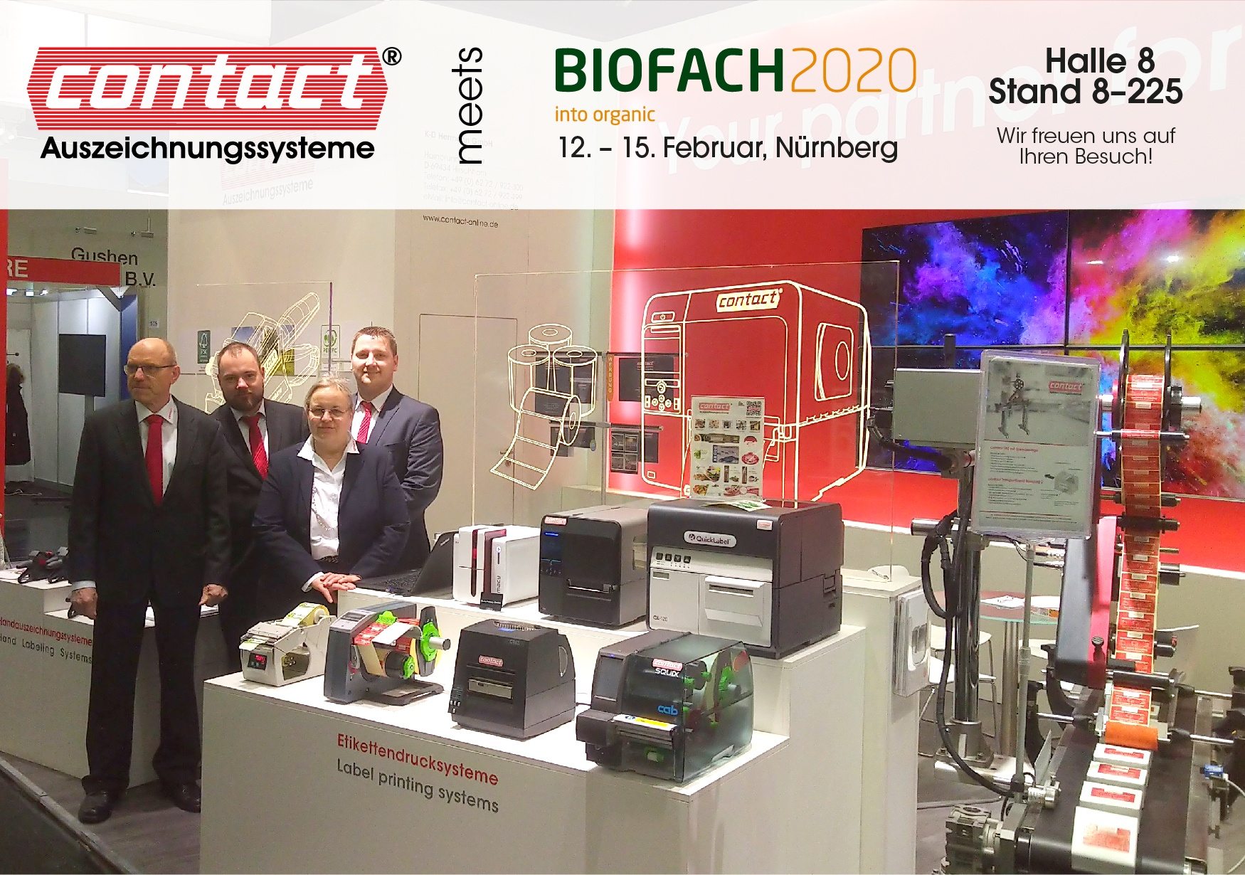 contact als Aussteller auf der Weltleitmesse für Bio-Lebensmittel - contact Auszeichnungssysteme
