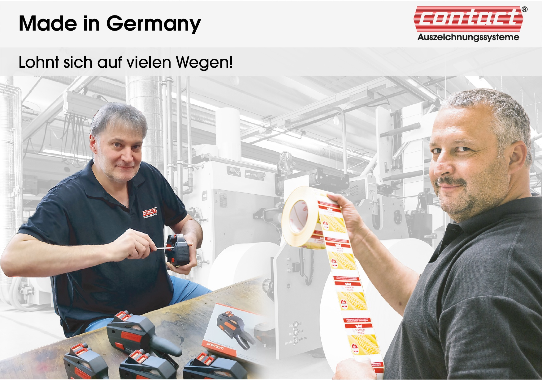 contact - quality made in germany - contact Auszeichnungssysteme