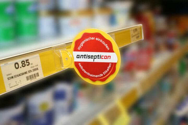 promoflex_wobbler_mit antisepticon-werbung - contact Auszeichnungssysteme