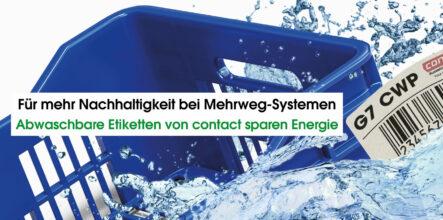 Abwaschbare Etiketten von contact sparen Energie